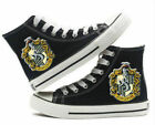 Muggle Harry potter Hufflepuff High top Canvas Flat Shoes Casual Sneaker Shoe