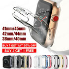 For iWatch Apple Watch 1/2/3/4/5 TPU Protector Full Cover Case 38/40/42/44mm