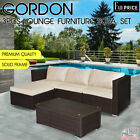 3 Pcs Gordon Lounge Black Brown Setting Sofa Set Patio Garden Outdoor Furniture