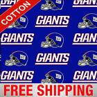 "New York Giants NFL Cotton Fabric - 60"" Wide - Style# 6314 - Free Shipping!! $10.95 USD on eBay"