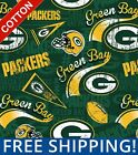 """Green Bay Packers NFL Cotton Fabric - 60"""" Wide - Style# 14837 - Free Shipping! $10.95 USD on eBay"""