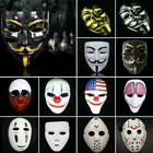 Halloween Party Mask Fawkes Anonymous Costume Horror Movie Cosplay Horror Prop