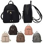 New Ladies Tassel Ring Decoration Plain Faux Leather Fashion Backpack