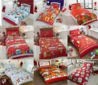 Christmas Festival Duvet Cover Reversible Printed Bedding Set With Pillow Case/s