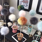 More Colorful Natural Fur Pompon Women Hat Hats Caps Clothes Knitted Hat Cap