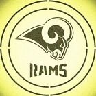 DOUBLE CIRLCE LOS ANGELES RAMS w/ TEAM NAME STENCIL SPORT FOOTBALL STENCILS $15.97 USD on eBay