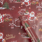 Christmas Wrapping Paper Gift Xmas Tree Santa Claus Wrap Roll Party Decoration
