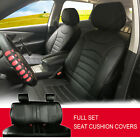 Full Sets Leather like Auto Car Seat Cushion Covers for Dodge #80255 Black $89.0 USD on eBay