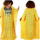Super Size African Bazin Women Dashiki Loose Sequin Embroidery Lace Dress Lot