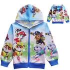 2019 Boys & Girls Paw Patrol Doll Pocket Zip-Up Hoodie Jacket Sweatshirt ZG9