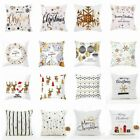 "18"" Christmas Printed Cushion Cover Throw Pillow Case Home Sofa Seat Decorative"