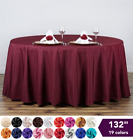 "10 pcs 132"" Round Polyester Tablecloths Wedding Party Wholesale Huge Lot SALE"