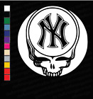 New York Yankees Grateful Dead Vinyl Decal | Bumper Sticker Steal Your Face MLB on Ebay