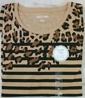 NEW!!  KIM ROGERS 3/4 SLEEVE CREW TEE - TAN