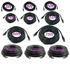 Cat5 CAT5e Rj45 Patch Cable Black Ethernet Lan Modem Ethernet LAN Network PC Lot