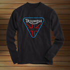 TRIUMPH Logo Motorcycle LONG SLEEVES T SHIRT Black All Size $20.9 USD on eBay