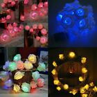 20 Led Rose Flower Light String Fairy Lights Home Wedding Romantic Decor Uk