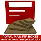 PiP Cardboard Boxes Royal Mail Large Letter Postal Mailer Mini A6 DL A5 A4 Brown