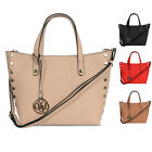 Ladies LYDC Studded Shoulder Bag Girls Fx Leather Bucket Handbag Tote Bag GL4807