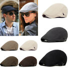 Solid Cotton Gatsby Cap Golf Driving Sun Flat Cabbie Beret Newsboy Ivy Mens Hat