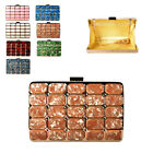 Ladies Art Deco Mother of Pearl Box Clutch Bag Party Evening Bag Handbag MX99