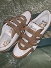 Gola  Mens White & Brown Leather Straps Up Sneakers Shoes Euro 44