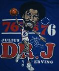 Philadelphia 76ers Team Dr. J Julius Erving Blue T Shirt Short Sleevw XL DD833 on eBay