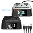 Alarm Clock Charging Station 3 USB Charger Ports 2 AC Adapters & Charging Cable