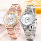 Women Fashion Stainless Steel Love Heart Analog Quartz Round Wrist Watch WatchCA image