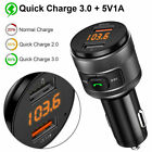 VicTsing Car Bluetooth FM Transmitter USB Radio Adapter Music Player AUX TF Card