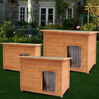 Large Dog Kennel Winter Pet House Shelter Wooden Animal Hut With Removable Floor