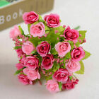 21-Head Artificial Rose Bouquet Silk Fake Flowers Wedding Party Home Decoration
