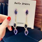 Luxury 925 Silver,Gold Drop Earrings for Women Crystal Jewelry A Pair/set image