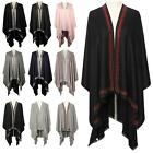 New Ladies Cotton Wool Silk Diamante Decoration Winter Elegant Shawl Wrap