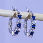 4 Colors Drop Earrings for Women 925 Silver Jewelry Cubic Zircon A Pair/set image