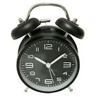 Twin Bell Silent Alarm Clock Bedside Clock With Nightlight and Loud Alarm