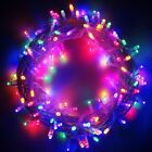 10-100M LED String Fairy Lights 8 Modes Mains UK Plug Garden Xmas Party Outdoor