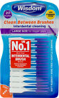 Wisdom Clean Between Interdental Brushes - 20 pack - Large Purple CHOOSE AMOUNT