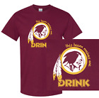 Washington Redskins This Team Makes Me Drink T-Shirt | Shirt Funny NFL Jersey $17.95 USD on eBay