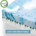 4 Inch Double Blue Swirl Egg Memory Foam Mattress Topper High Density Support  image
