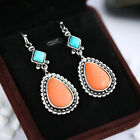 Pretty Drop Earrings for Women 925 Silver Jewelry Turquoise A Pair/set image