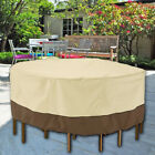 Small Round Waterproof Garden Patio Table Chair Set Furniture Cover Heavy Duty P