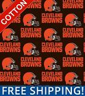 "Cleveland Browns NFL Cotton Fabric - 58-60"" Wide - Style# 6735 - Free Shipping!! $15.95 USD on eBay"