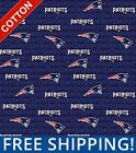 "New England Patriots NFL Cotton Fabric - 60"" Wide - Style# 14500-1 Free Shipping $7.95 USD on eBay"