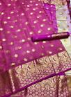 Saree Silk Indian Sari Designer Wear Pakistani Embroidery Wedding Heavy Soft Kot