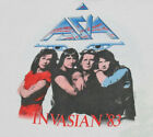 vtg 80s 1983 ASIA Invasian raglan tour t shirt For Mens Wommen Reprint DD1438 image
