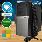 Dell Desktop Computer Windows 10 PC Dual 17  Monitors Intel Core i5 8GB 1TB HD