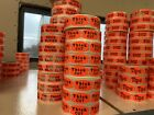 Meat/Game (varieties O-Z) spot labels/stickers (day glo/fluorescent) 500/roll
