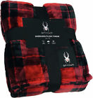 Spyder Holiday Plaid Flannel Ultra Plush Bed Blanket Interwoven Strength image