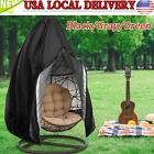 Us Hanging Hammock Swing Chair Egg Wicker Stand Seat Cover Patio Garden Outdoor